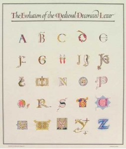 The Evolution of the Medieval Decorated Letter poster