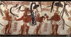 Justin Kerr photograph of Mayan Vase